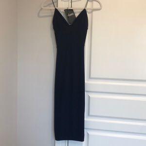 Misguided spandex midi dress brand new